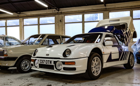 3/4 avant Ford RS200 Ford Heritage