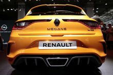 Vue arrière nouvelle Renault Mégane RS au salon francfort 2017