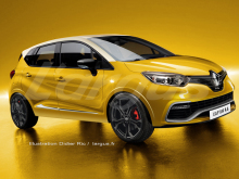 illustration photomontage future Renault Captur RS