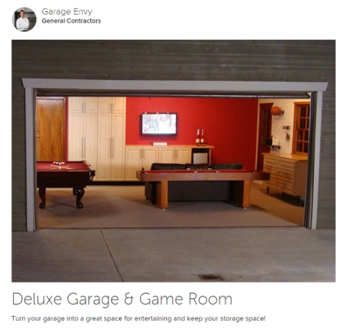 Transformer son garage en game room ? Source : www.houzz.com