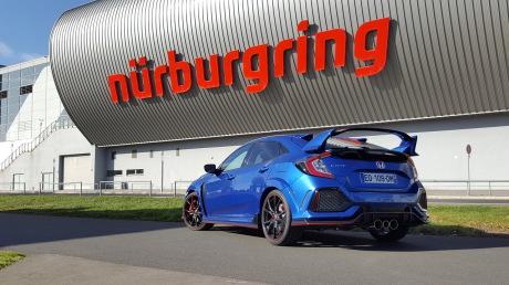 Honda Civic Type R 2018 Nürburgring statique arrière
