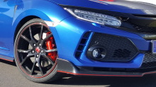 Honda Civic Type R 2018 Nürburgring gros plan avant