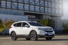 Honda CR-V Hybrid rear view white