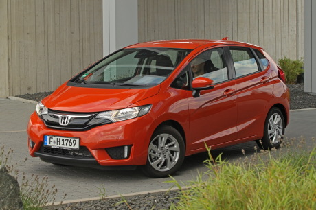 Honda Jazz 2015 13 I VTEC Executive Navi Orange Stationnee Vue Avant Gauche