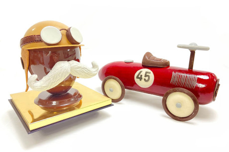 lutetia chocolate driver and car
