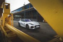 Jaguar F-Type SVR gray static front right