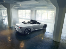 White rear view of the Lexus LC Cabriolet Concept