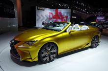 Lexus LF C2 Concept (2014) Yellow rear view at the Los Angeles Auto Show 2014