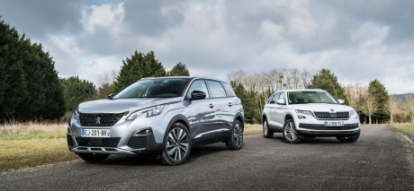 essai comparatif le peugeot 5008 d fie le skoda kodiaq l 39 argus. Black Bedroom Furniture Sets. Home Design Ideas