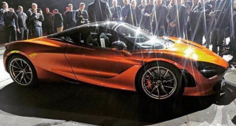 McLaren 720S vue avant couleur orange