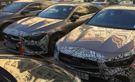 Future Mercedes CLA gray front view