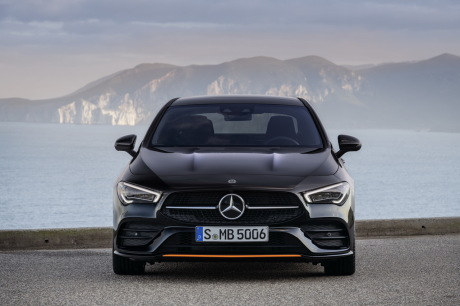 New Mercedes CLA 2019 Edition 1 black and orange front view