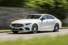 Mercedes CLS white action front left