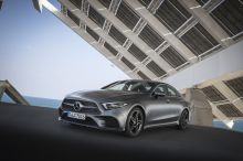 Mercedes CLS (2018) rear view gray 400d