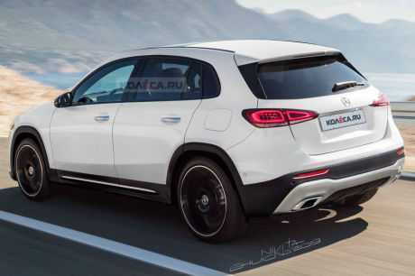mercedes GLA 2020 illustration