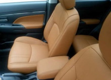 mitsubishi asx s-styl sellerie cuir caramel
