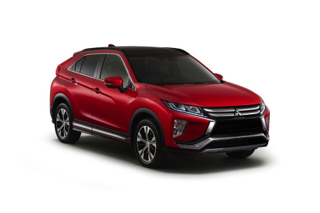 Mitsubishi Eclipse Cross SUV vue avant couleur rouge