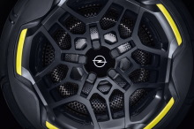 Opel GT X Experimental SUV concept car with electric sight on a 17-inch rims