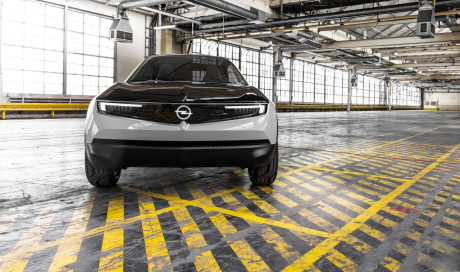 Opel GT X Experimental concept-car electric SUV front view in studio