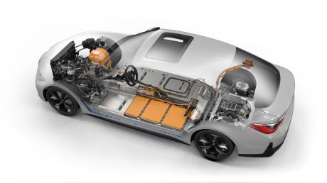 BMW i4 2021 Batterieanzeige