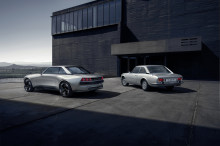 Peugeot e-Legend Concept Car and Peugeot 504 Coupe