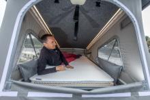 van style van with roof bed