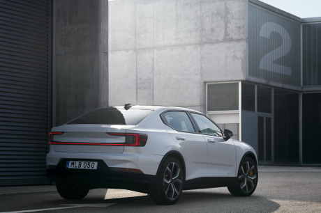 Polestar 2 2019 blanc statique arriÃÃ Â¡re droit