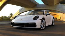 new Porsche 911 992 2019 white front view