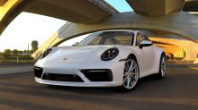 new Porsche 911 992 2019 front view white SportDesign pack