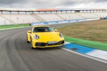 Porsche 911 992 2019 yellow course on course