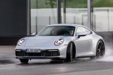 Porsche 911 992 2019 gray sliding