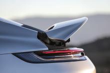 Porsche 911 992 2019 gray engine fin