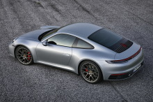 Porsche 911 992 2019 gray static rear left