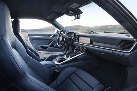 Porsche 911 992 2019 gray interior