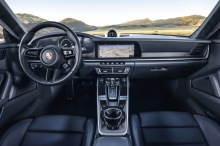 Porsche 911 992 2019 gray dashboard