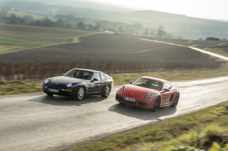 test porsche 718 cayman vs porsche 968