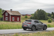 Lexus UX 250h gray static rear right