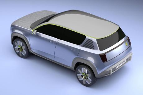 Renault 4 Prototype 2021 vue 3D