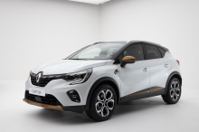 future illustration Renault Captur 2 2019 Didier RIC red front view on red background