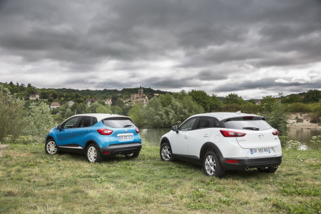 bilan de l 39 essai comparatif mazda cx 3 vs renault captur l 39 argus. Black Bedroom Furniture Sets. Home Design Ideas