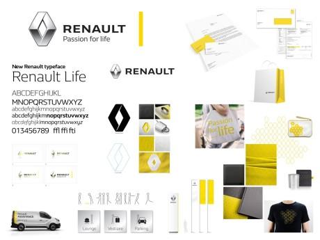 Le nouvel univers graphique du Groupe Renault sera adapté sur tous les supports de la marque