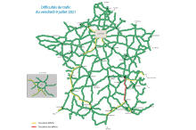 Friday July 9, 2021 traffic difficulties