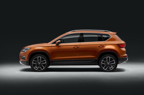 Seat Ateca 2016 vue de profil couleur orange