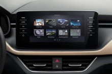 Skoda cabin view touchscreen dashboard