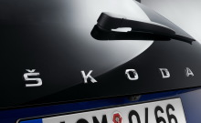 Skoda Scala hatchback with Skoda logo