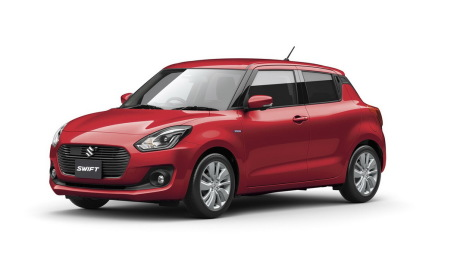 Suzuki Swift 2017 vue avant couleur rouge