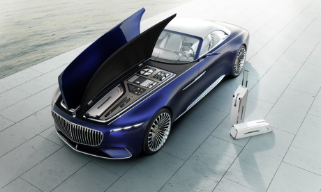 Vision Mercedes-Maybach 6 Cabriolet Pebble Beach 2017 capot ouvert valises
