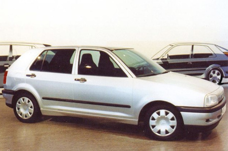Volkswagen Golf 3 (1991).  These prototypes which have by no means seen the sunshine!