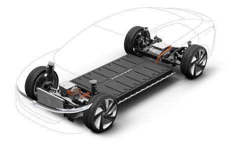 Deux moteurs et des batteries dans le plancher la plateforme technique modulaire MEB pour les véhicules électrique est bien pensée