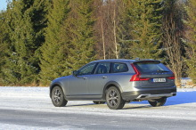 Volvo V90 Cross Country Luxe 2017 gris arrière gauche
